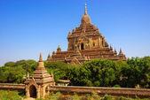Htilominlo świątyni, bagan, myanmar — Zdjęcie stockowe