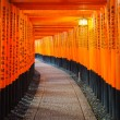 Torii gates in Fushimi Inari Shrine, Kyoto, Japan — Stock Photo #69912409