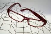 Black eye glasses isolated on White — Stock Photo
