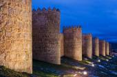 Walls of Avila in the evening — Stock Photo