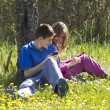 Kids with mobile phones — Stock Photo #70679427