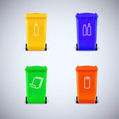 Recycle bins with the symbols. — Stock Vector