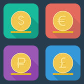 Coins vector icon. — Stock Vector