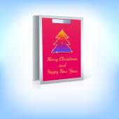 Shopping bag with Christmas tree — Stock vektor