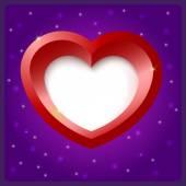 Red heart, vector background. — Stockvector
