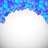 Background of blue balloons. — Stock Vector