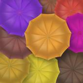 Opened umbrellas top view, closeup. — Vetor de Stock
