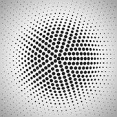 Radial halftone background. — Stock Vector