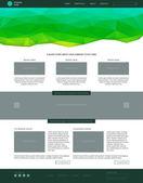 Website template. Modern flat style with green banner. — Cтоковый вектор