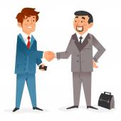Businessmen and Business Deal — Stock Vector