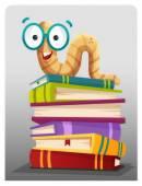Bookworm — Stock Vector