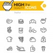 Breakfast Icons line series including: pancake, cereal, butter e — Stock Vector #70080189