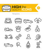 Racing Line Icons — Stock Vector