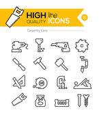 Carpentry Line Icons — Stock Vector