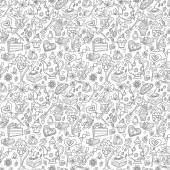Tea party pattern background — Stockvector