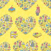 Tea party pattern background — Stockvektor