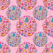 Tea party pattern background — Stock Vector