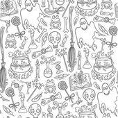 Halloween pattern background — Stock Vector