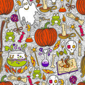 Halloween pattern background — Stock Vector