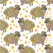 New year sheep pattern — Stock Vector