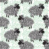 Sheep pattern vector background — Stockvector