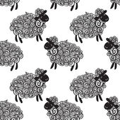 Sheep pattern vector background — Stockvektor