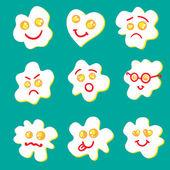 Fried eggs emoticon — Stock Vector