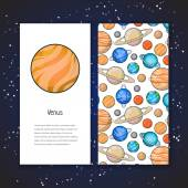 Planet design template — Stock Vector