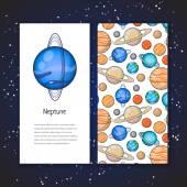 Planet design template — Stock Vector