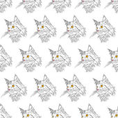 Maine coon pattern — Stock Vector