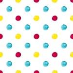 Vatercolor polka dot pattern — Stock Vector #75211055