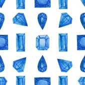 水彩宝石图案 — 图库矢量图片