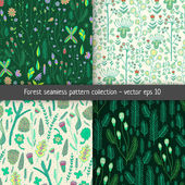 Forest pattern set — Stock Vector