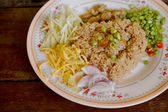 Fried rice with Shrimp paste, Thai food delicious — Stock Photo