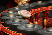Thai musical instrument ,Gong Instrument for rhythm( select focu — Stock Photo