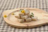 Brown sugar cube — Stock Photo