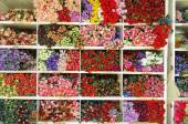 Artificial Flowers background ,Artificial flowers for sale — Stock Photo