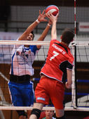 Kaposvar - dunaferr volleyballspiel — Stockfoto