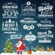 Christmas decoration collection of calligraphic and typographic design with labels, symbols and icons elements — Stock Vector #56396005