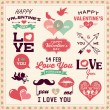 Valentine's day typography, labels and icons elements collection — Stock Vector #63543971