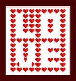 Valentine's day design background. Vector illustration — Stockvector
