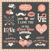 Valentine's day labels, icons and design elements collection — Stockvector