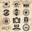 Photography vintage retro badges, labels and icons set. Vector photography logo templates. — Stock Vector #68445857