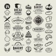 Bakery logotypes set. Bakery vintage design elements, logos, badges, labels, icons and objects — Stock Vector #76103281