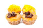 Cupcake with topping — Stock Photo