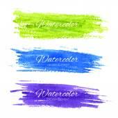 Colorful vector watercolor brush strokes — Stock Vector