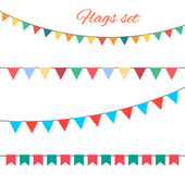 Flags vector set for your birthday design. — Stock Vector