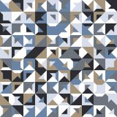 Seamless geometric, vintage pattern. With triangles. — ストックベクタ