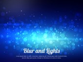 Abstract blue colorful bokeh background. Festive background with defocused lights. Magical background with colorful bokeh. — Stockvektor