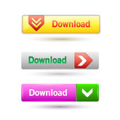 Vector illustration of download buttons. — Stock Vector